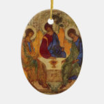 Trinity with Angel Wings Ceramic Ornament