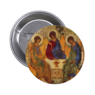 Trinity with Angel Wings Pinback Button