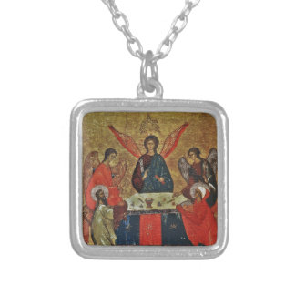 Trinity with the Saints Silver Plated Necklace