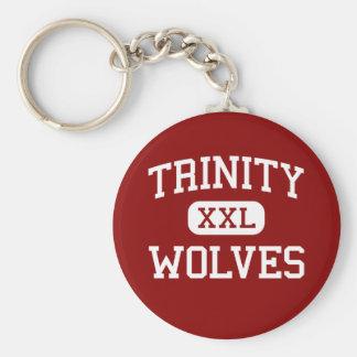Trinity - Wolves - High - Weaverville California Basic Round Button Keychain