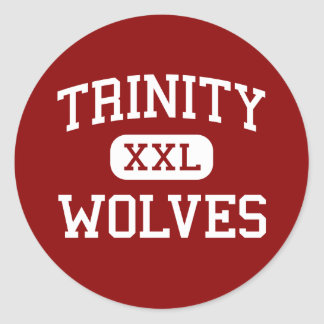 Trinity - Wolves - High - Weaverville California Classic Round Sticker
