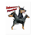 Trío 2 del Pinscher del Doberman Postal