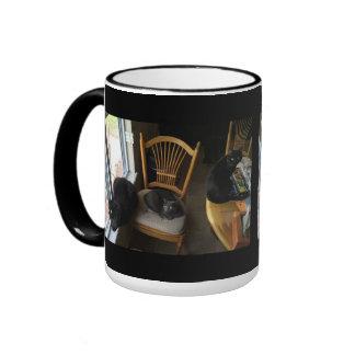Trio At The Window Ringer Mug