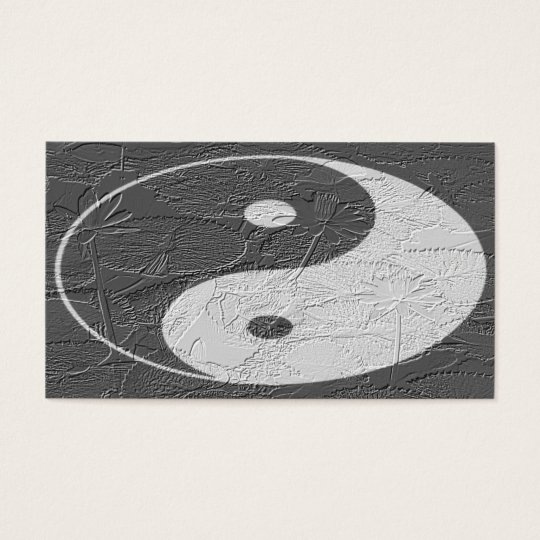 Trio Balance/ Lotus Blossoms Embossed-Like Texture Business Card