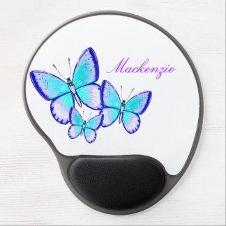 Trío bonito de la mariposa alfombrilla de ratón con gel