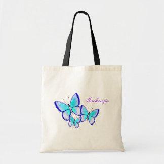 Trío bonito de la mariposa bolsa tela barata