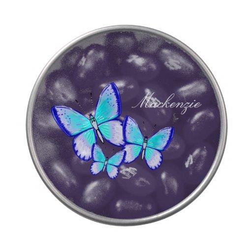 Trío bonito de la mariposa jarrones de dulces