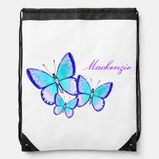 Trío bonito de la mariposa mochilas