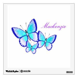 Trío bonito de la mariposa vinilo decorativo