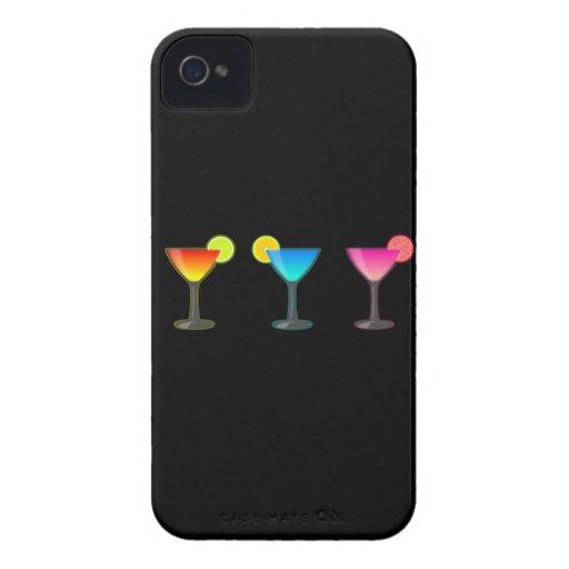 Trío brillante del cóctel iPhone 4 fundas