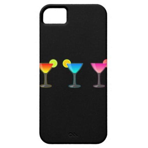 Trío brillante del cóctel iPhone 5 Case-Mate fundas