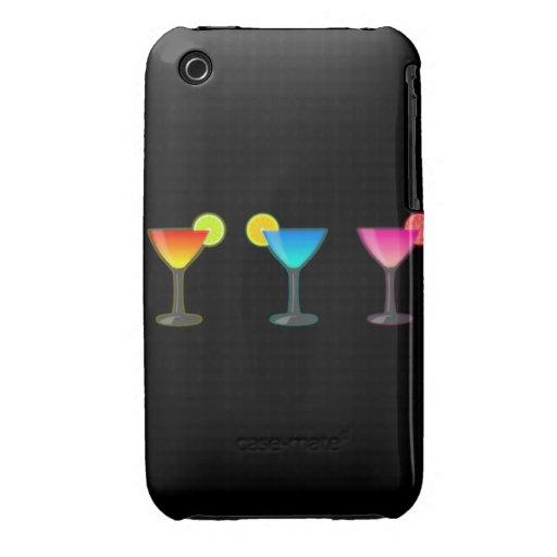 Trío brillante del cóctel iPhone 3 Case-Mate fundas