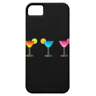 Trío brillante del cóctel iPhone 5 fundas