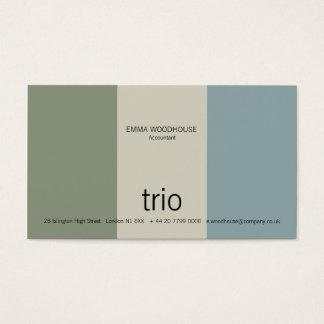 Trio Cadet Blue, Sea Green & Grey Business Card