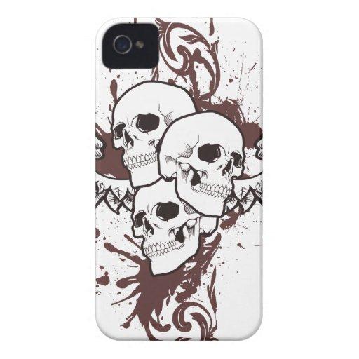 Trío con alas del cráneo carcasa para iPhone 4 de Case-Mate