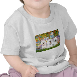 Trío de Bichon Frise - jardín (VG) Camiseta