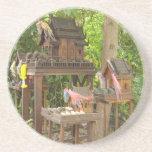 Trío de Birdhouses Posavaso Para Bebida