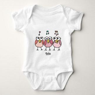 Trío de Byrdies del bebé del chica Playeras