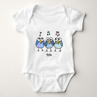 Trío de Byrdies del bebé del muchacho Playera