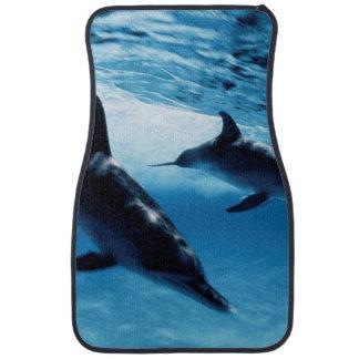 Trío de delfínes alfombrilla de coche