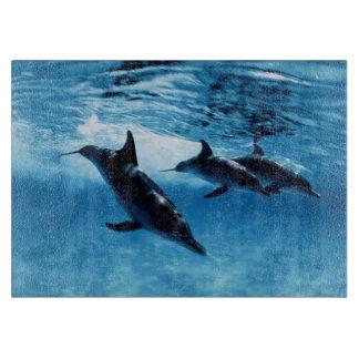 Trío de delfínes tabla para cortar