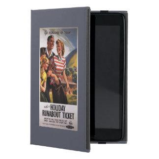Trío de la familia en ahorros del vagabundo del iPad mini cárcasa