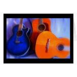 Trío de la guitarra tarjetón