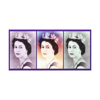 Trío de la reina Elizabeth II Impresión En Tela