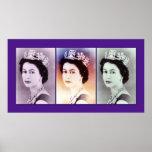 Trío de la reina Elizabeth II Posters