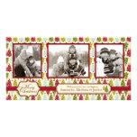 Trío de la tarjeta de la foto del árbol de navidad tarjetas fotograficas personalizadas