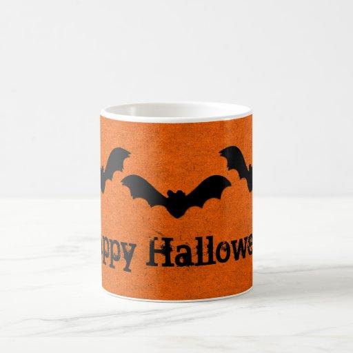 Trío de la taza de Halloween de los palos, naranja
