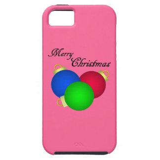 Trío de las decoraciones de las Felices Navidad iPhone 5 Carcasa