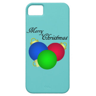 Trío de las decoraciones de las Felices Navidad iPhone 5 Cárcasas