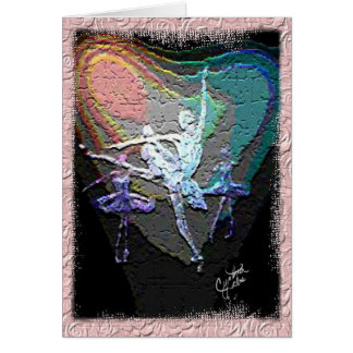 Trío de los bailarines WithTexture Felicitación