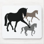 Trío de los caballos del Dressage Alfombrillas De Ratón