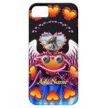 Trío de los corazones con las alas del ángel de lo iPhone 5 Case-Mate protector