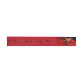 Trío de los corazones rojos de la tarjeta del día etiquetas postales