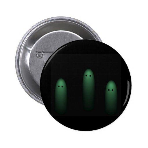 Trío de los fantasmas (verdes claros) pin