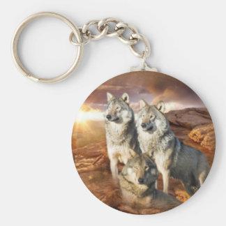 Trío de los lobos llavero personalizado