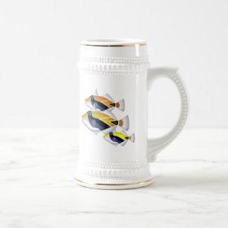 Trío de los pescados del fumador taza de café