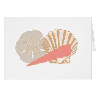 Trío de los Seashells Tarjeta De Felicitación