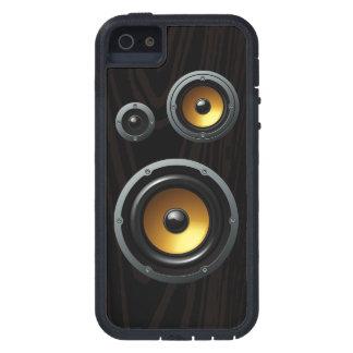 Trío de madera retro de moda del altavoz del grano iPhone 5 funda