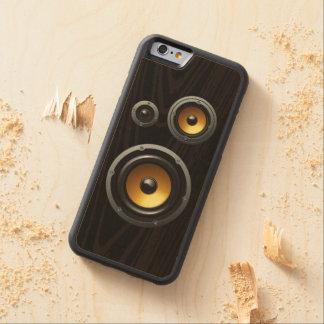 Trío de madera retro de moda del altavoz del grano funda de iPhone 6 bumper arce