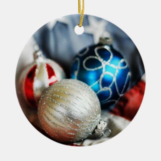 Trío de ornamentos patrióticos ornamento de navidad
