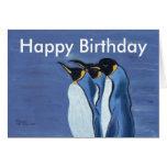 Trío de Penquin - tarjeta de cumpleaños