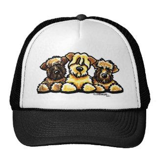 Trío de trigo de Terrier Gorros Bordados