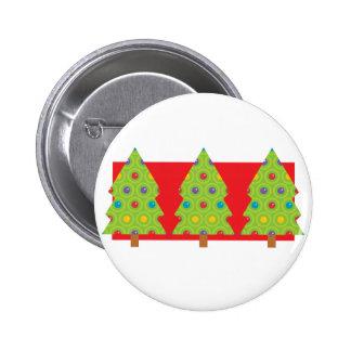 Trío del árbol de navidad pins