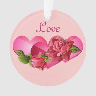 Trío del corazón con el día de San Valentín rosado