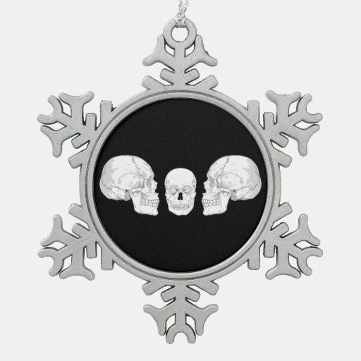 Trío del cráneo adorno