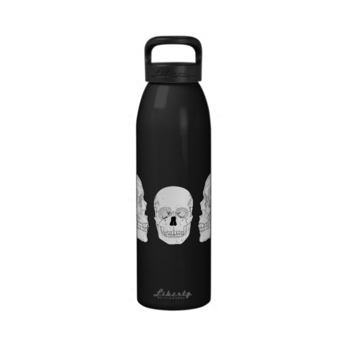 Trío del cráneo botella de agua reutilizable